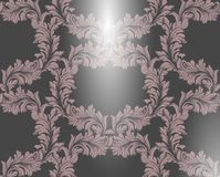 Damask pattern Vector illustration handmade ornament decor. Baroque glossy background textures. Damask pattern Vector illustration handmade ornament decor Stock Photography