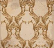 Damask pattern Vector illustration handmade ornament decor. Baroque grunge background textures. Damask pattern Vector illustration handmade ornament decor Stock Photos