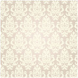 Damask pattern vector. With olants Royalty Free Stock Photos