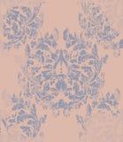 Damask pattern Vector ornament decor. Baroque background textures. Damask pattern Vector ornament decor. Baroque background texture Stock Photography