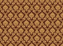 Damask pattern wall Stock Images