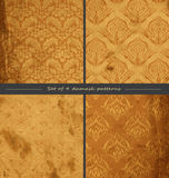 4 damask patterns Stock Images