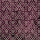 Damask Print Purple Stock Photo