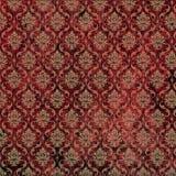 damask print red tan Стоковое Изображение