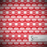 Damask red lattice ribbon vintage geometric seamless pattern vec Royalty Free Stock Images