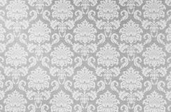 Damask Repeat Pattern On Old Paper. Stock Photos