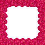 Damask rose frame Royalty Free Stock Photography