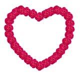 Damask rose heart frame Stock Image