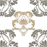 Damask Royal ornament pattern in English vintage Victorian style Royalty Free Stock Images