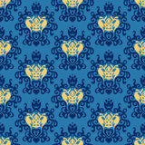 Damask Royal seamless patter vector Royalty Free Stock Photos