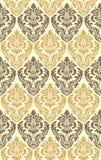 Damask seamless. Gold damask seamless - wallpaper pattern Stock Photos