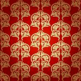 Damask Seamless With Baroque Ornaments. Royalty Free Stock Photo
