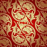 Damask Seamless With Baroque Ornaments. Royalty Free Stock Photos