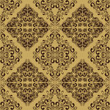 Damask seamless beige Wallpaper. Royalty Free Stock Photography