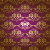 Damask seamless floral pattern Royalty Free Stock Images