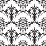 Damask Seamless Floral Pattern Background Stock Photos