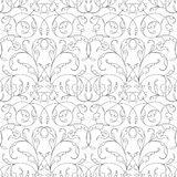Damask seamless floral pattern black background Royalty Free Stock Image