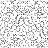 Damask seamless floral pattern black background Royalty Free Stock Photography