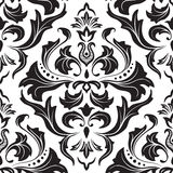 Damask seamless floral pattern. Stock Photo