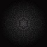 Damask seamless floral pattern. Royal wallpaper. Flowers on a black background. Royalty Free Stock Image