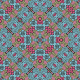 Damask seamless floral pattern. Royal wallpaper. Flowers vintag Stock Photography