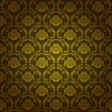 Damask seamless floral pattern. Royal wallpaper. Floral ornaments on a green background. Vector illustration EPS 10 Stock Photography