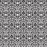 Damask seamless floral wallpaper Stock Photos