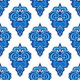 Damask seamless flourish floral pattern Stock Photo