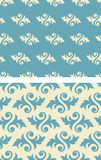 Seamless damask Wallpaper Pattern Stock Photo