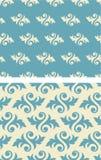 Seamless damask Wallpaper Pattern. Damask seamless foliate wallpaper pattern Stock Photo