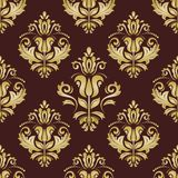 Damask Seamless  Golden Pattern. Orient Background Royalty Free Stock Photography