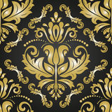 Damask Seamless  Golden Pattern Royalty Free Stock Photo