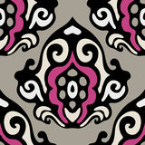 Damask seamless motif vector Royalty Free Stock Image