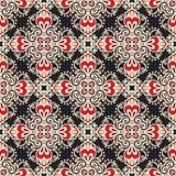 Damask Seamless Ornamental Motif Vector Pattern Royalty Free Stock Photo