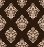 Damask Seamless Ornate Pattern Stock Image