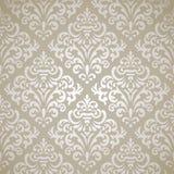 Damask seamless pattern. Damask vintage seamless pattern on gray gradient background Stock Image
