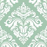 Damask Seamless Pattern. Abstract Background. Oriental seamless pattern with damask, arabesque and floral elements. Abstract background royalty free illustration