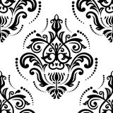 Damask Seamless Pattern. Abstract Background. Oriental seamless vector pattern with damask, arabesque and floral elements. Abstract background stock illustration