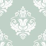 Damask Seamless Pattern. Abstract Background. Oriental seamless vector pattern with damask, arabesque and floral elements. Abstract background Stock Image