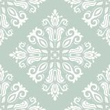 Damask Seamless Pattern. Abstract Background. Oriental seamless vector pattern with damask, arabesque and floral elements. Abstract background royalty free illustration