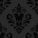 Damask Seamless Pattern. Abstract Background. Oriental vector pattern with damask, arabesque and floral elements. Seamless abstract background stock illustration