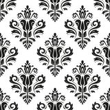 Damask Seamless Pattern. Abstract Background Stock Photo