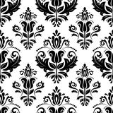Damask Seamless Pattern. Abstract Background. Damask seamless vector pattern with floral elements. Abstract background in the style of Baroque Royalty Free Stock Image