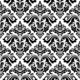 Damask Seamless Pattern. Abstract Background. Damask vector pattern. Seamless vintage abstract texture for background in the style of Baroque royalty free illustration