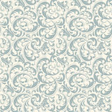 Damask seamless pattern background. Classical luxury old fashioned damask ornament, royal victorian seamless texture. Vector damask seamless pattern background Stock Photo