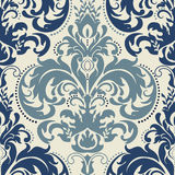 Damask seamless pattern background. Classical luxury old fashioned damask ornament, royal victorian seamless texture. Stock Photography