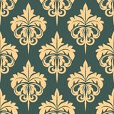 Damask seamless pattern in beige and grey colors Stock Photography