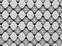 Damask seamless pattern black-white Stock Photos