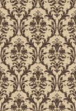 Damask seamless pattern in brown and beige Royalty Free Stock Photo