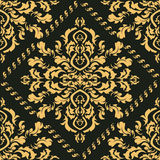 Damask seamless pattern for design. Vector Illustration Royalty Free Stock Photography